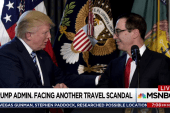 Exorbitant jet travel a Trump admin hallmark