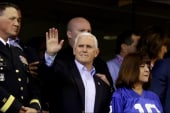 Pence puts on performance at NFL game