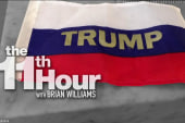 Protester throws Russian flags at Trump on...