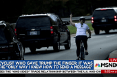 Cyclist loses job after giving President...
