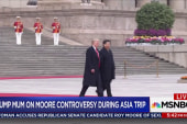 Trump dodges Roy Moore questions on Asia trip