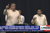 Trump laughs when Duterte calls media 'spies'