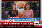 NBC News terminates Matt Lauer