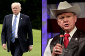 Trump tweets support for Moore one week...