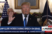 Trump appears to slur his speech during...