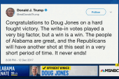 Trump tweets 'congratulations' to Doug Jones
