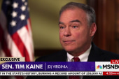 "Sen. Kaine: President Trump ""won't resign,"" has ""no shame"""