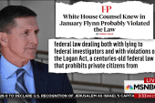 Report indicates White House Counsel aware of Flynn legal issues