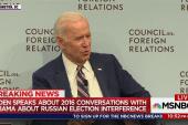 Biden: 'Constant battle' in 2016 on how to handle Russia