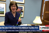 Native American talking stick used in shutdown debate