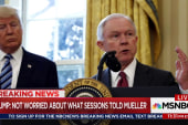 Trump: Not at all concerned what Sessions told Mueller