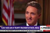 Sen. Flake compares Trump's rhetoric to Josef Stalin