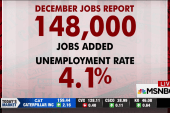 US adds 148K jobs in December, unemployment at 4.1