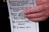 Camera captures Trump's notes during gun control meeting