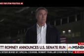 Mitt Romney makes an announcement