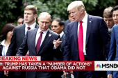 "Despite ""odd affinity"" for Putin, Trump claims to be tougher on Russia than Obama"