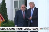Giuliani looks to restart Trump Mueller talks, Cohen takes 5th