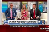Trump says Cohen represented him in Daniels case