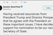 BREAKING: Sen. Rand Paul will support Pompeo's nomination