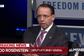"Rep. Nadler: Trump trying to ""find an excuse"" to fire Rosenstein"