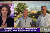 Democratic Senators see border detention centers firsthand