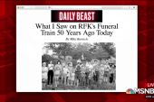 Mike Barnicle recalls what he saw watching RFK train