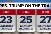 President Trump hits the campaign trail