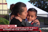 Mother reunited with her son after being separated for over a month