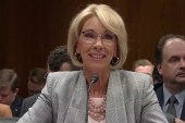 Betsy Devos won't examine the role of guns in school violence