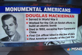 #MonumentalAmerican: First CIA officer killed in the line of duty