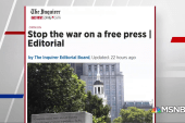 Newspapers across US denounce Trump's media attacks