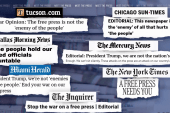 Editorial boards across the country respond to Trump attacks on free press