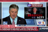 Sean Hannity tells Trump: Don't fire Rosenstein. This is a setup.