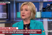 Clinton: W.H. should ask FBI to reopen Kavanaugh background check