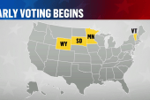 Early voting for midterm elections starts in four states