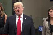 Trump comments on Iran, N. Korea, Rosenstein before U.N. General Assembly speech