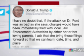 President Trump going after Christine Blasey Ford before hearing
