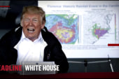 A few 'weird' moments as Trump tours hurricane damage in Carolinas