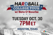 Beto O'Rourke plays Hardball on October 30