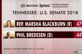 Tennessee Senate race within three points
