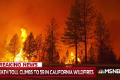 Death toll rises as fires continue to gut California