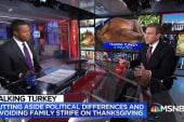 How do families put aside political differences on Thanksgiving?