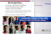 What does NYT report on TM Landry school say about the education system at large?