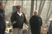 Trump says climate change small part to wildfires