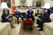 President Trump threatens shutdown in meeting with Pelosi, Schumer