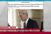Russian disinformation also targeted Robert Mueller: Report