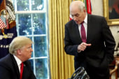 Chief of staff John Kelly expected to resign in coming days