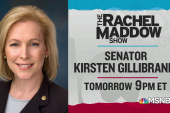 Sen. Kirsten Gillibrand to discuss 2020 run with Maddow Wednesday