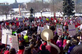 Denver school teachers walk out on first day of strike