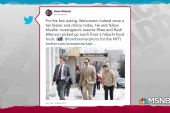Weissmann makes sartorial statement as he exits Mueller team